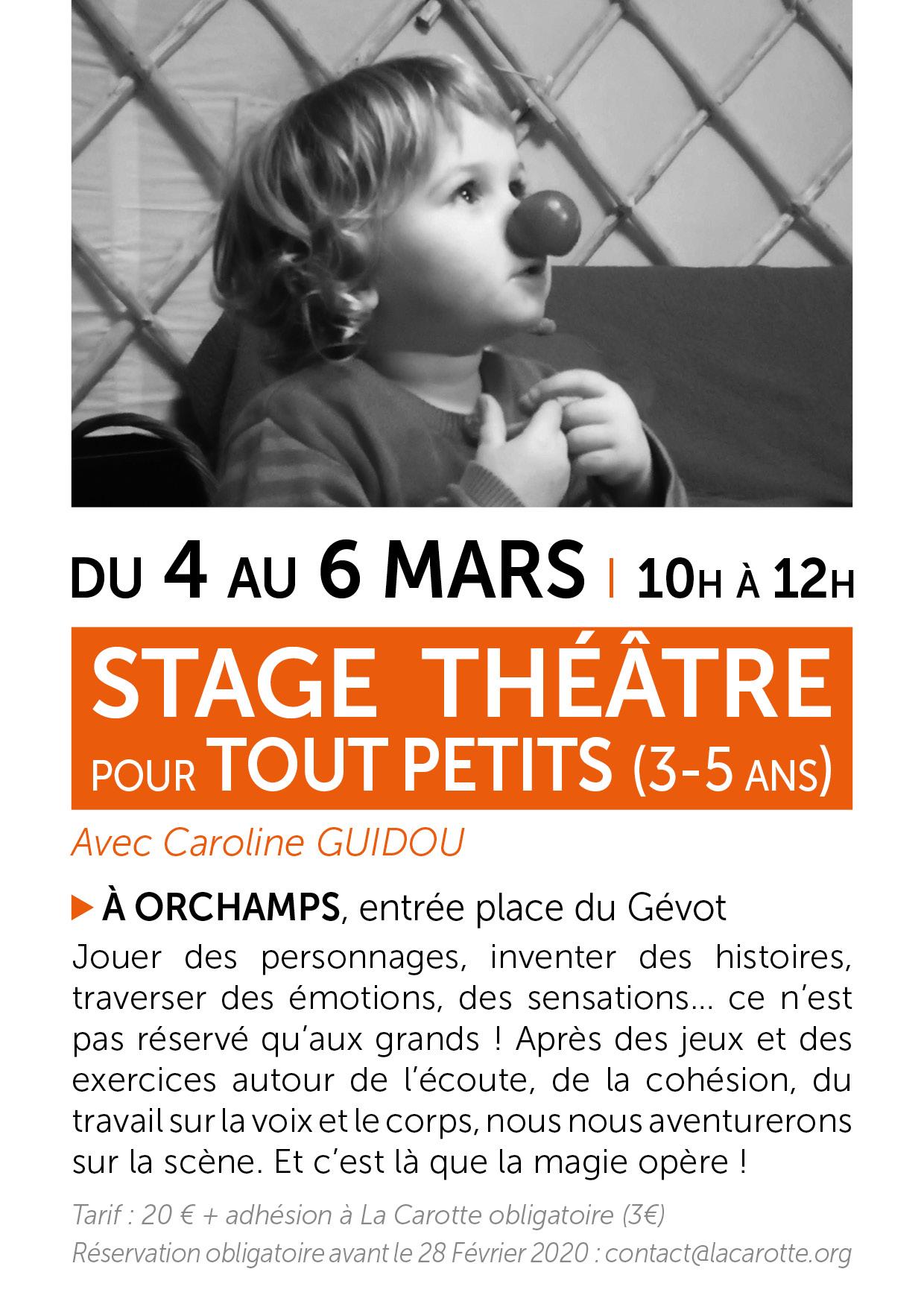 Stage de THÉÂTRE pour les tout PETITS (3-5 ans)